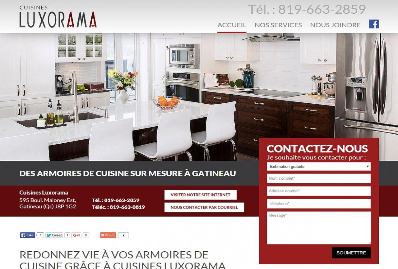 Cuisines luxorama armoires de cuisine gatineau en for Design interieur gatineau